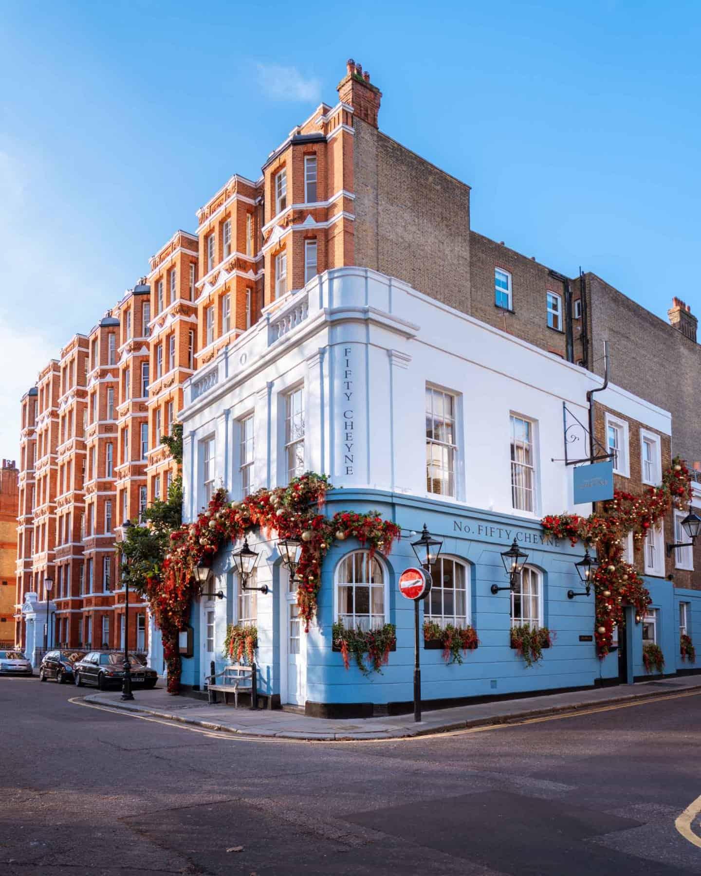 Fifty Cheyne restaurant on famous London street Cheyne Walk