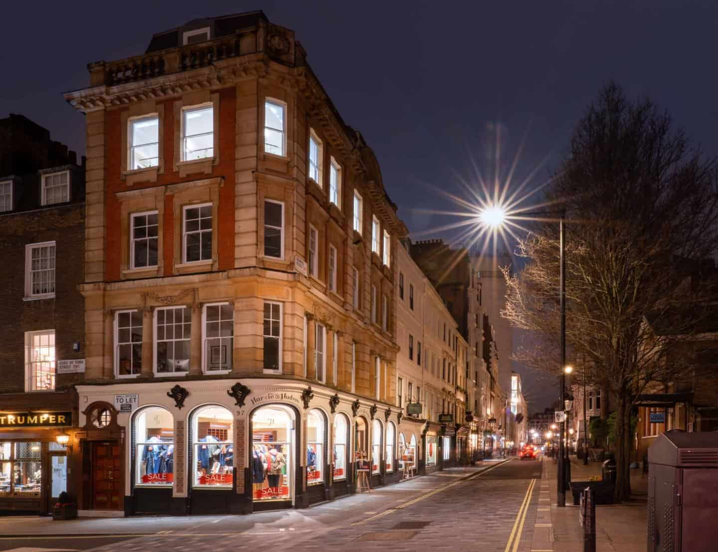 Jermyn Street is famous in London for its excellent men's clothing stores.