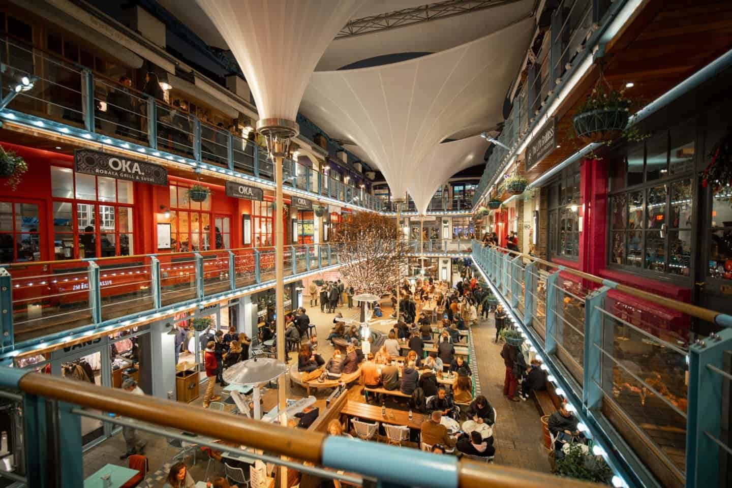 One of London's hidden gems; Kingly Court on Carnaby Street.