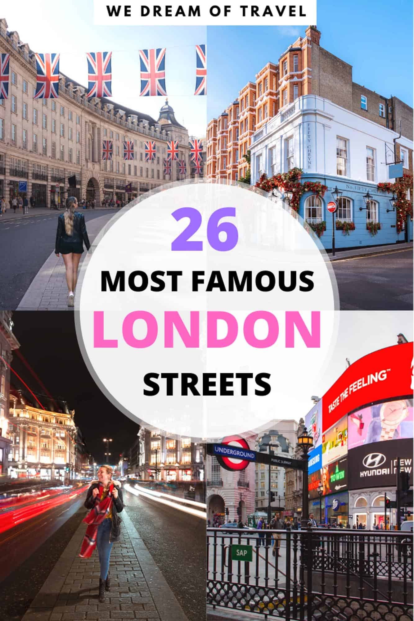 Exploring the most famous streets in London is a great way to get to know the city. Discover these famous London streets and the stories behind them.  Including everything from the most historic streets in London to the most famous residential streets in London, and of course where to shop in London.  From Abbey Road to Oxford Street!