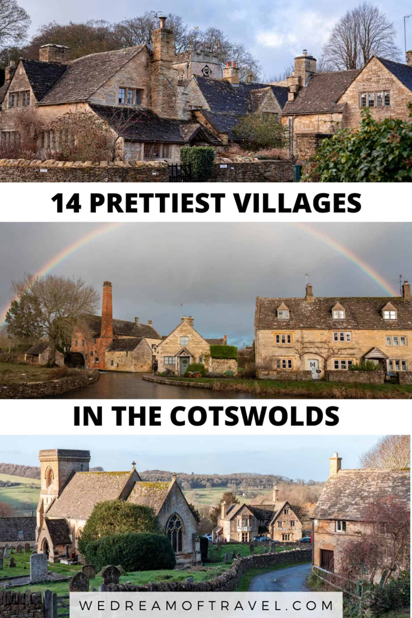 There are many picturesque villages in the Cotswolds.  This guide will help you find the prettiest villages in the Cotswolds, as well as those to skip.  With photography from each of the most beautiful villages to help inspire your Cotswolds trip. #costwolds #england