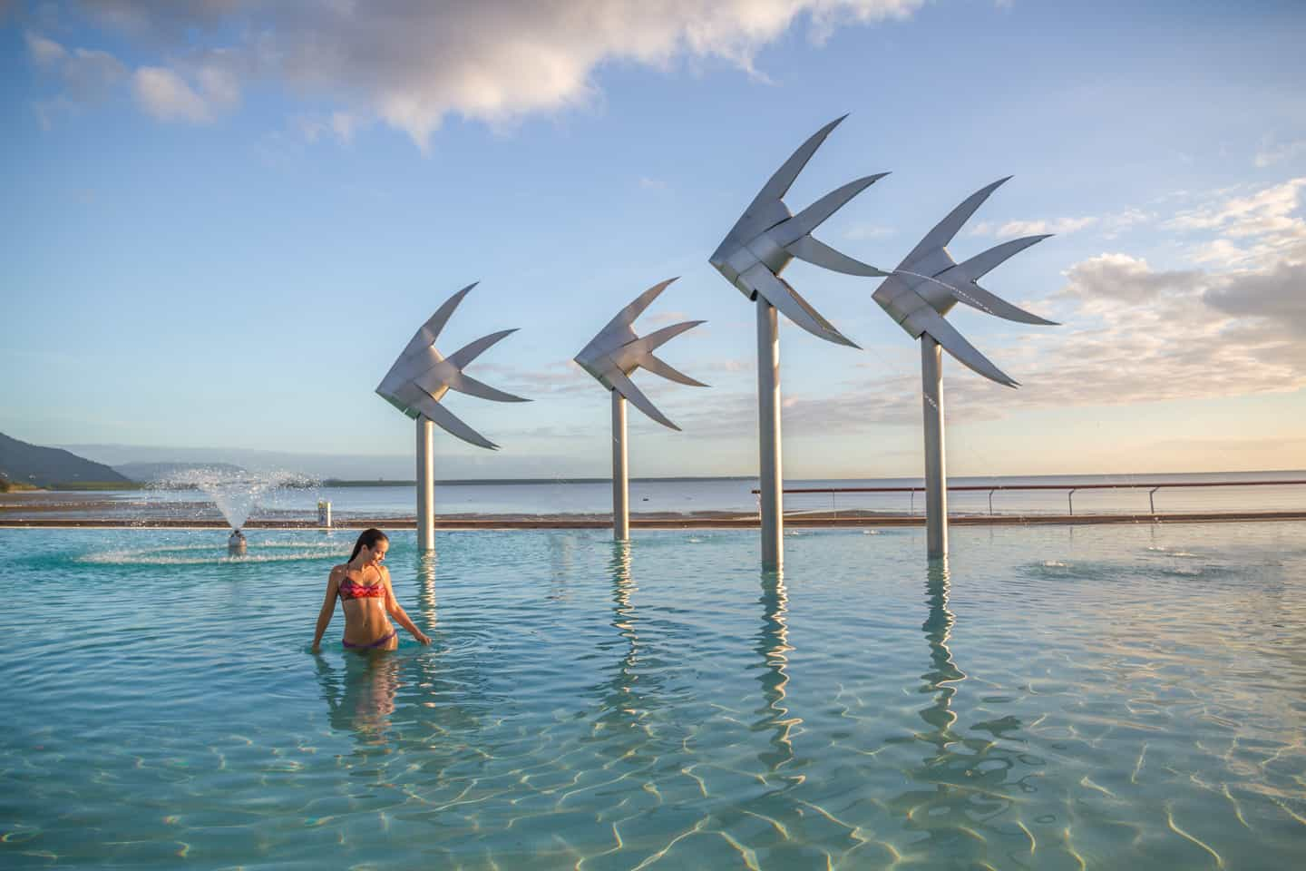 One of the many things to do in Cairns; have a swim in the Cairns lagoon
