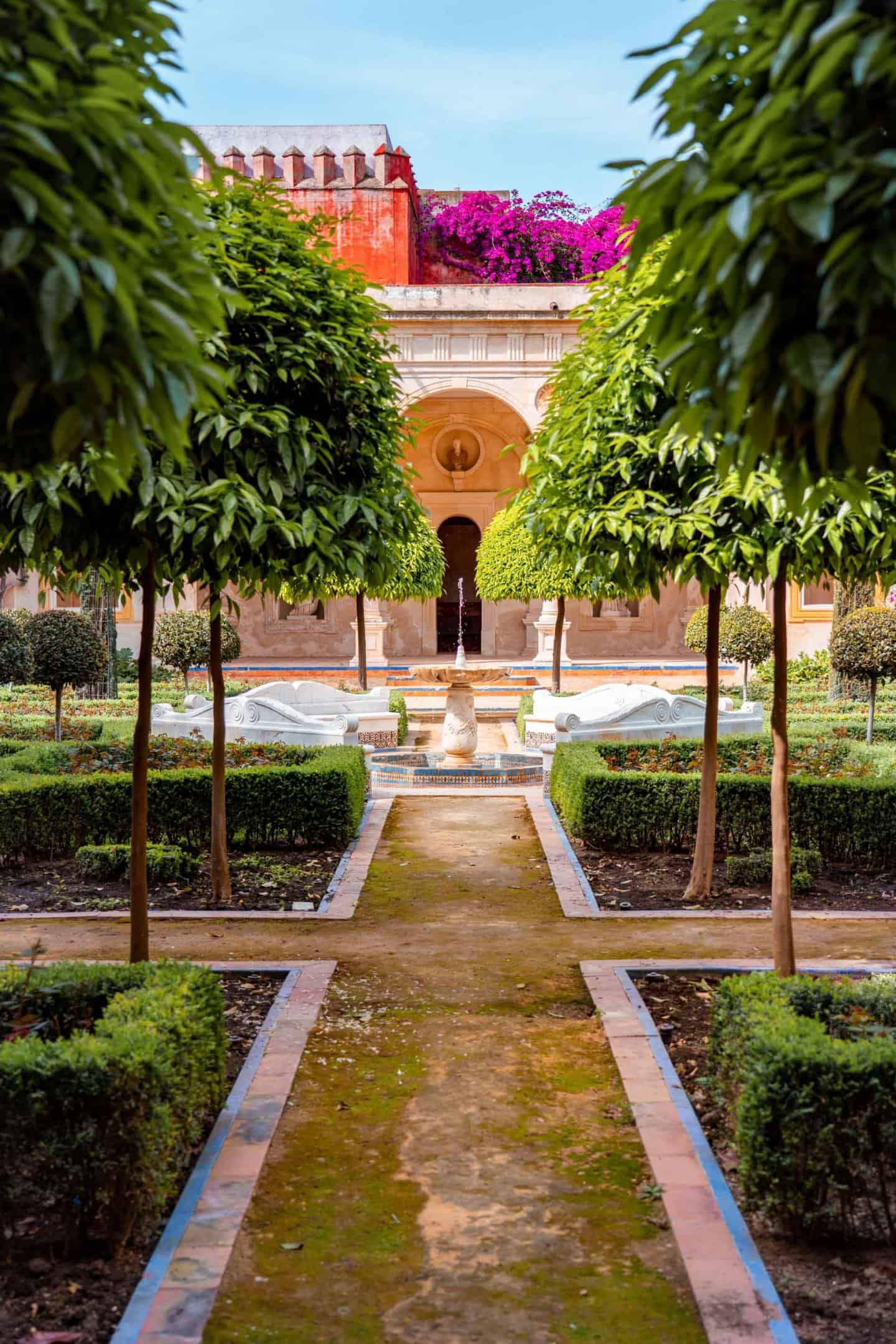 Garden of Casa de Pilatos Seville Spain