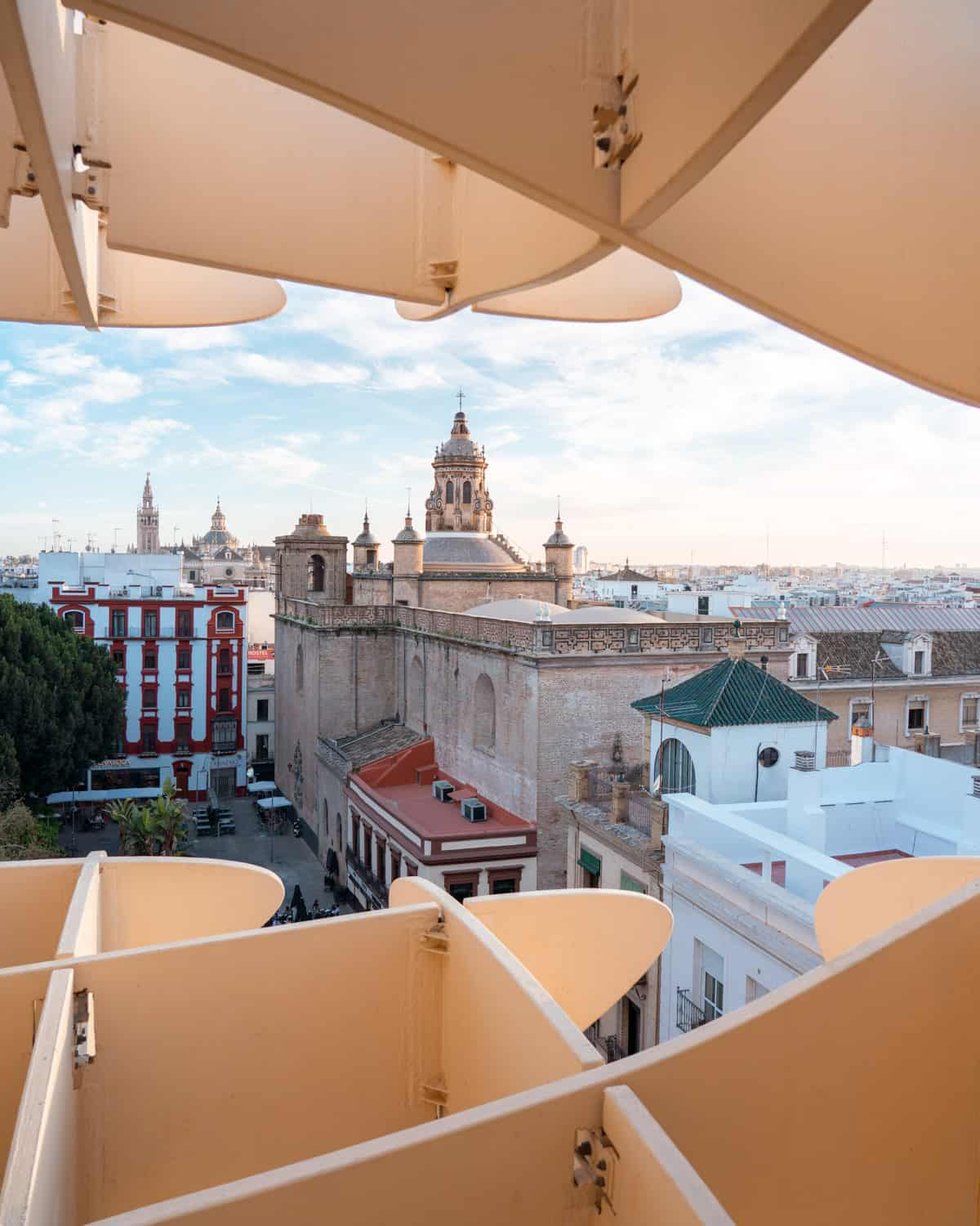 The Seville Cathedral as seen from Metropol Parasol Seville