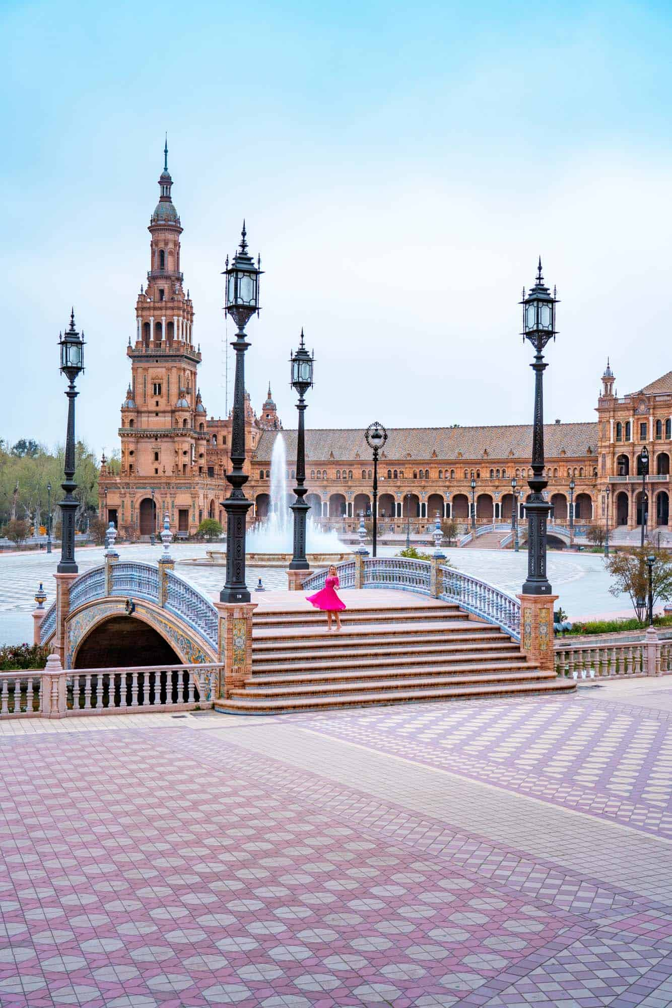 One of the most instagrammable places in Seville - Plaza de España