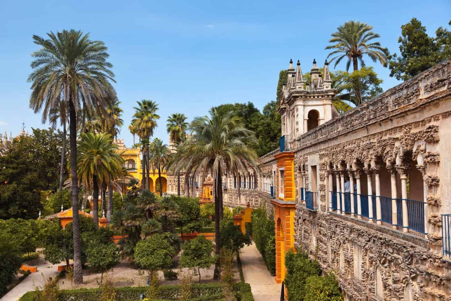3 Days in Seville - Real Alcazar Gardens in Seville Spain - nature and architecture background