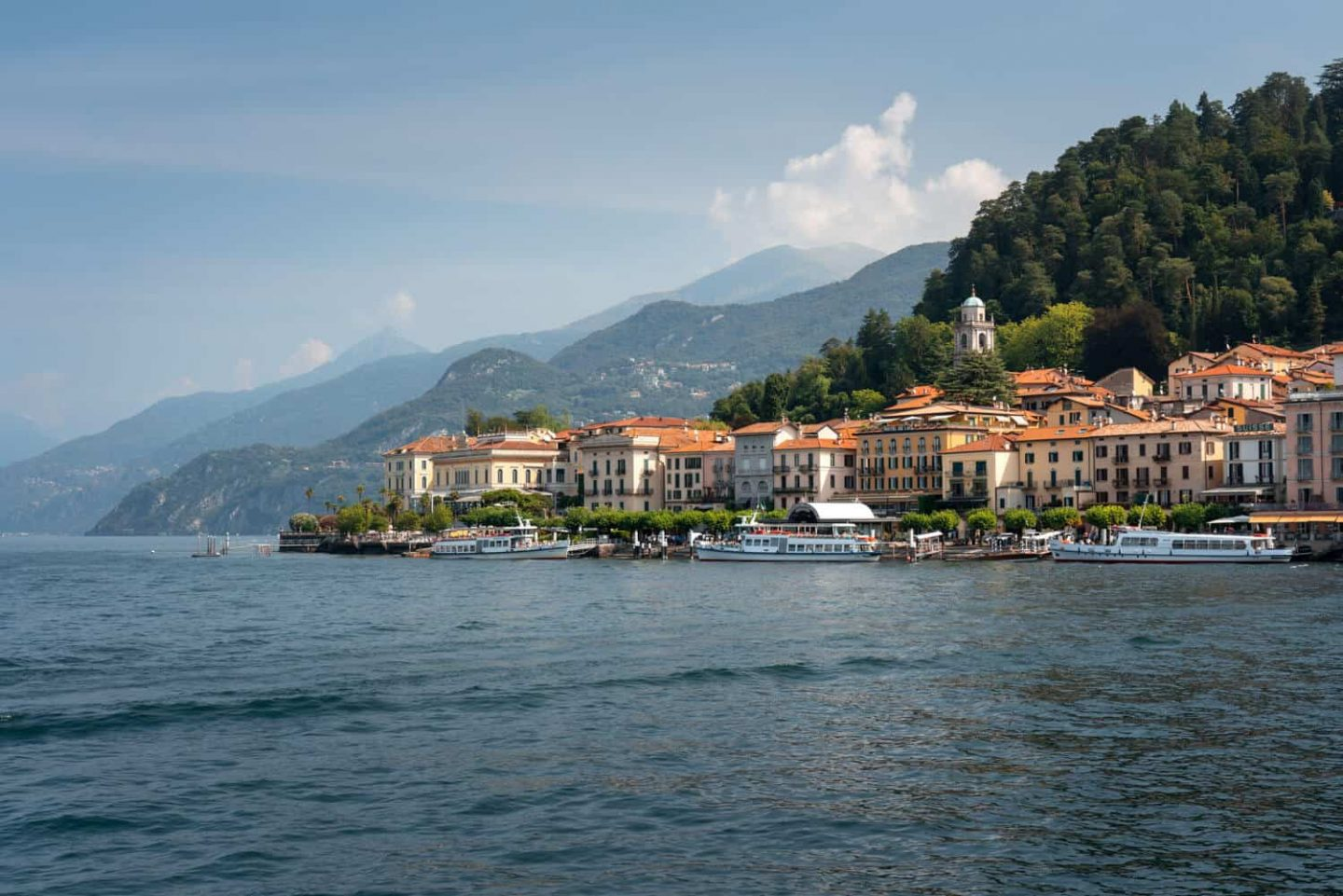View of Bellagio as you arrive by ferry from Varenna.  Do not miss Bellagio on a day trip Milan to Lake Como