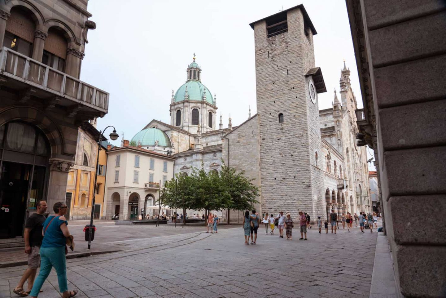 Church of San Giacomo, the Bell Tower, Como Cathedral and Broletto create a powerful scene together.