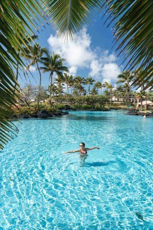 The Grand Hyatt has curated a stunning tropical setting at their resort in Poipu.