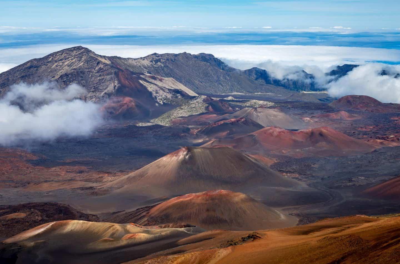 Haleakala volcano crater, Haleakala NAtional Park, Maui Hawaii