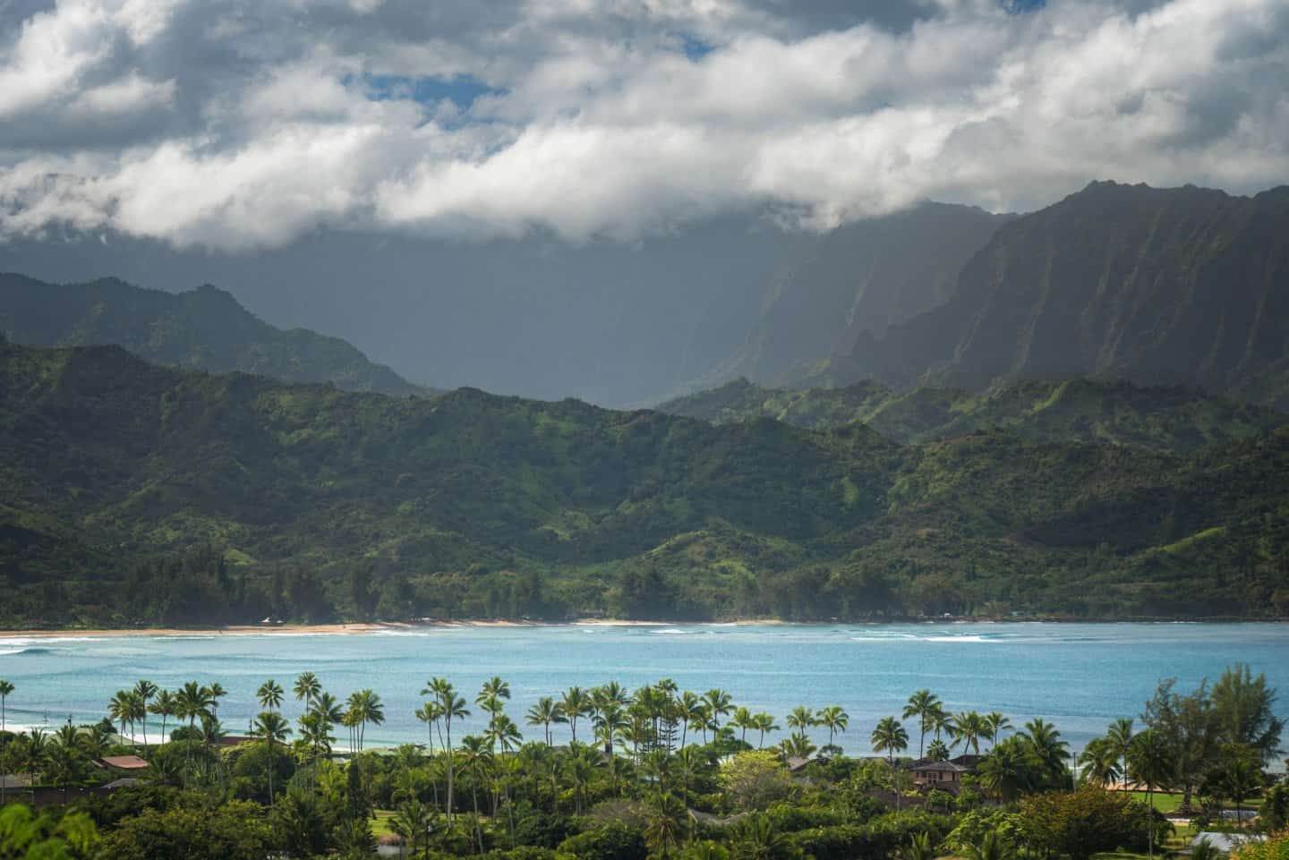Kauai landscape photography of Hanalei Bay.