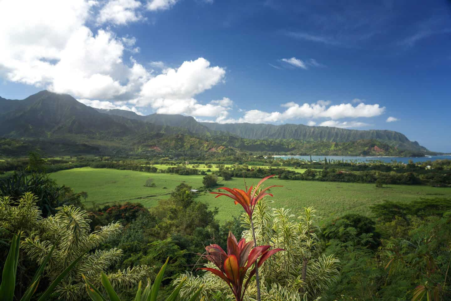 The views of Hanalei Bay are Day 6 on this 7 day itinerary for Kauai.