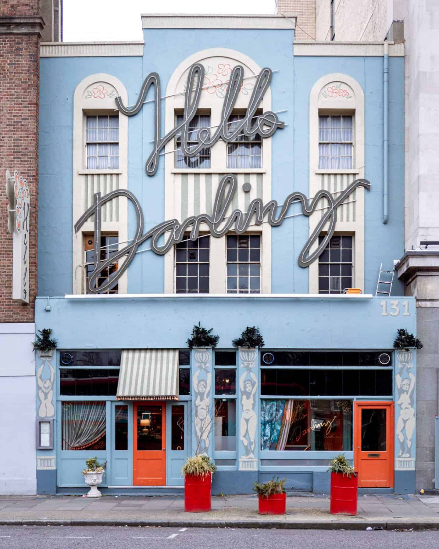 Hello Darling exterior - one of the most instagrammable places in London