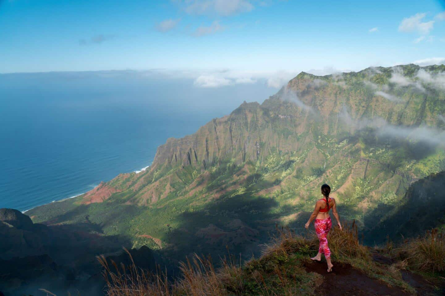 The land accessible best views of Na Pali are from the Kalepa Ridge Trail, but there are other options!