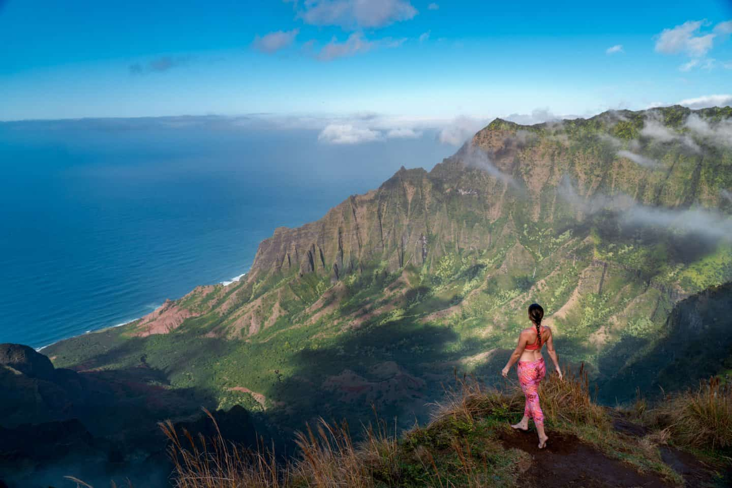 Taking in the beauty of the Kalalau Valley from Kalepa Ridge.
