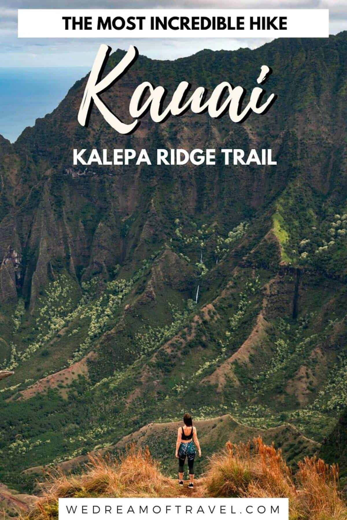 Planning to hike the Kalepa Ridge Trail in Kauai, Hawaii? Discover, from our first hand experience, everything you need to know about this epic hike and how to prepare for it.  Complete this challenging and exciting hike and you'll be rewarded the most incredible, scenic views over the Na Pali Coast.