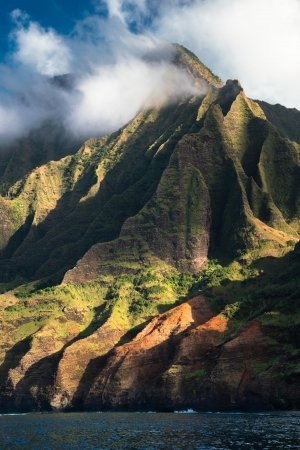 You will almost expect to run into dinosaurs while exploring the Jurassic Park-like NaPali Coast.