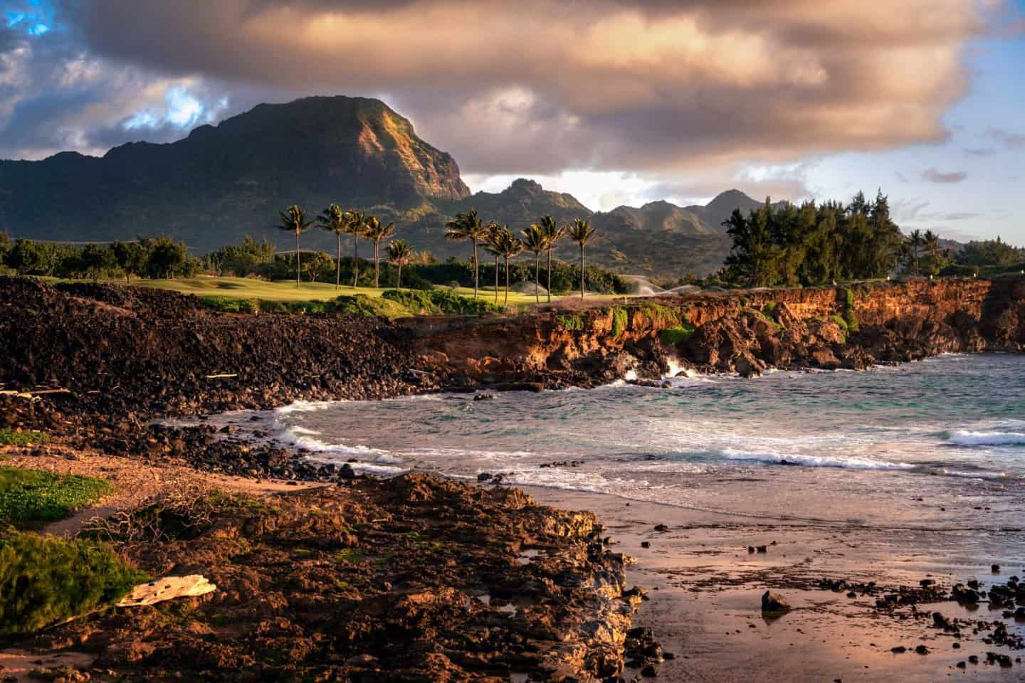 Sunrise photography from the Mahaulepu Heritage Trail is a must on any Kauai photograph itinerary.
