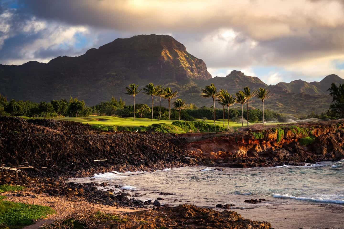 Sunrise photo at one of the best Kauai photography locations near Poipu