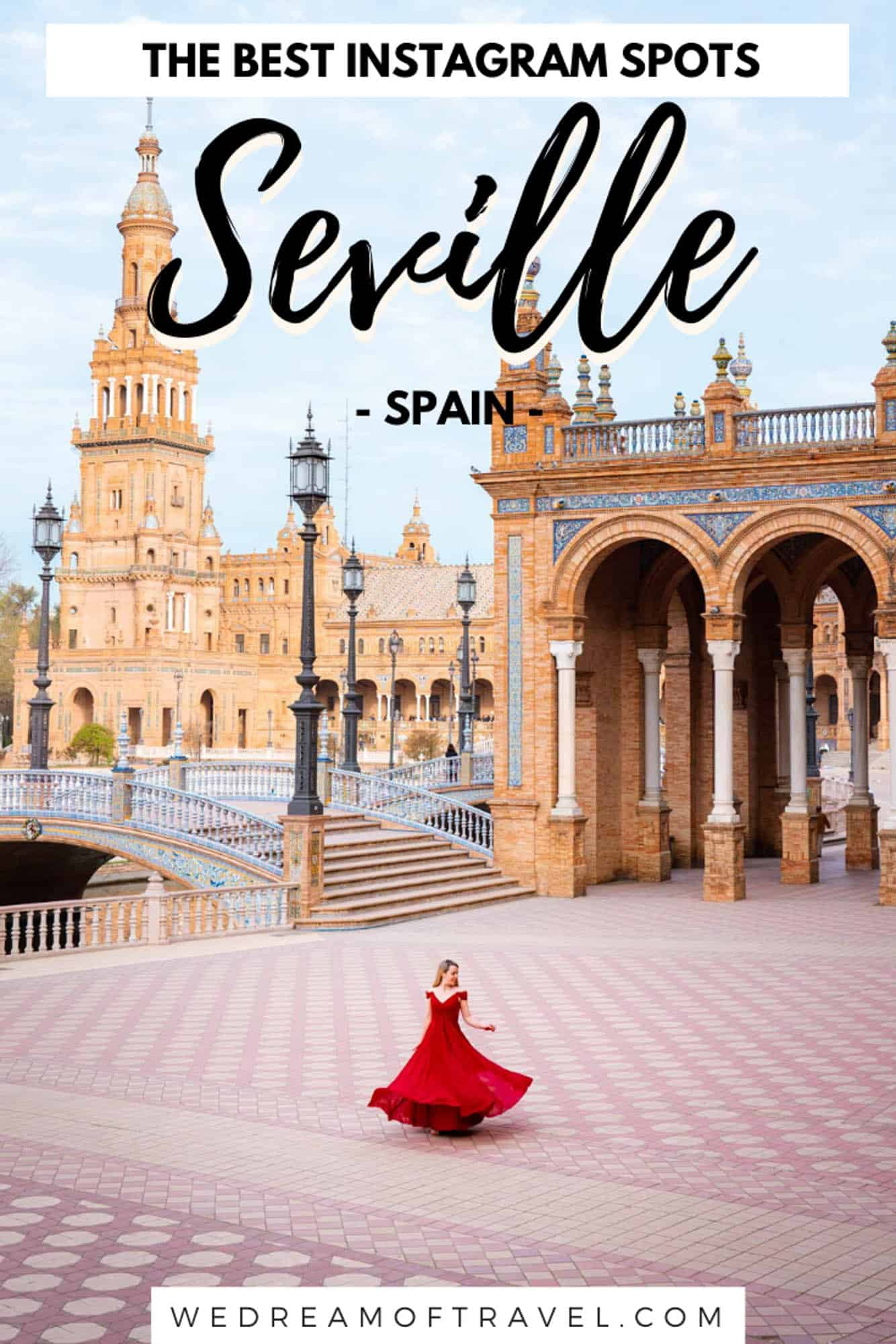 A photography guide to help you find the most instagrammable places in Seville, Spain.  All the most photogenic, beautiful places in this historic city.    #spainphotography #seville #spain #photography #instagram