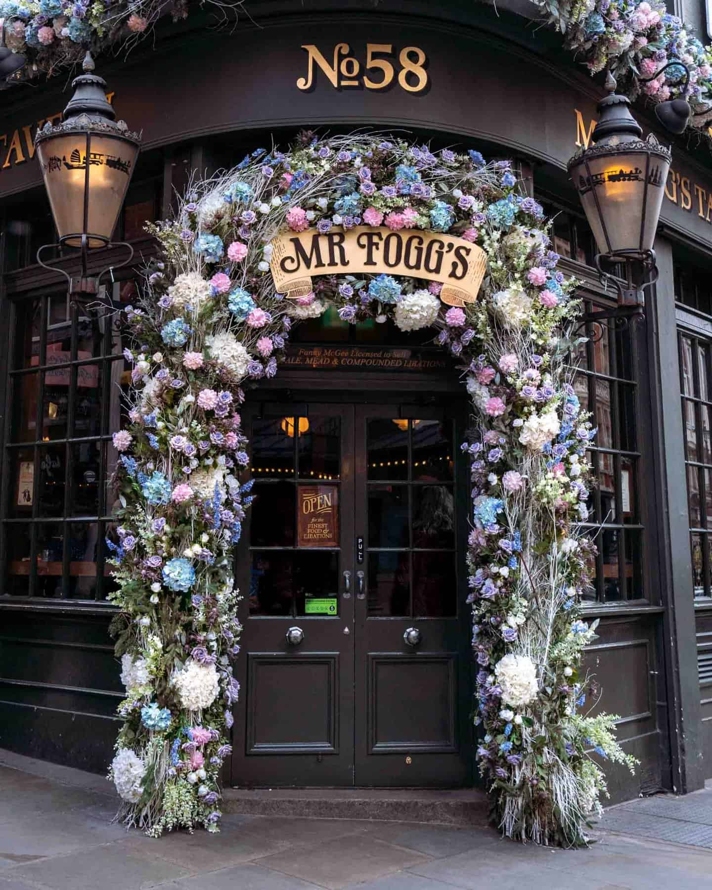 Mr Foggs House of Botanicals London exterior - one of the most instagrammable places in London