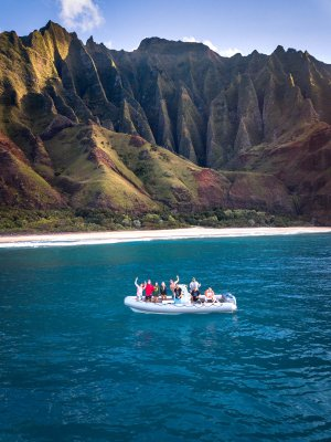 A crew of Kauai photographers exploring the best kauai photography locations.