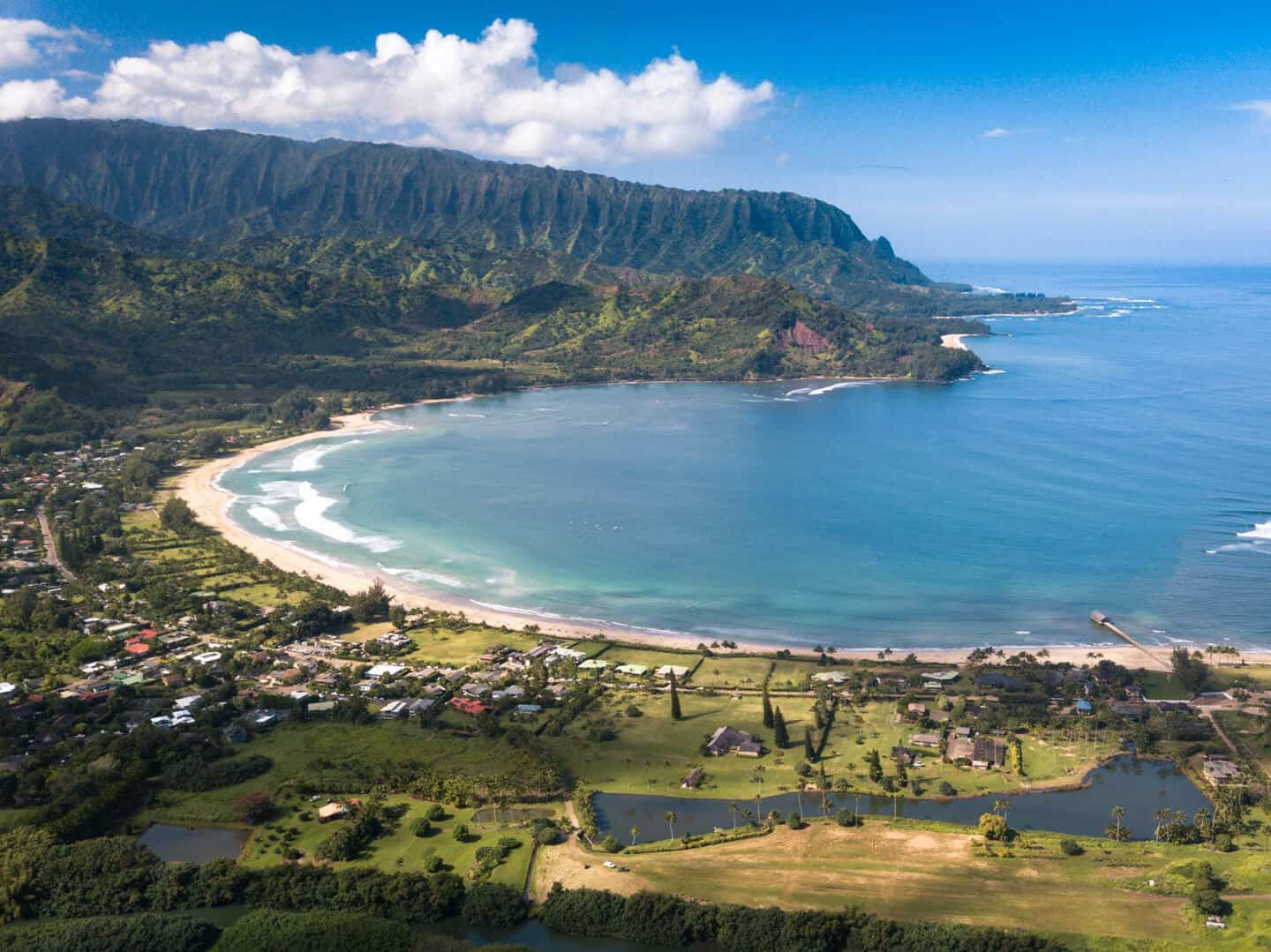 A view of the magnificent Hanalei Bay, where you will spend your final days in Kauai.