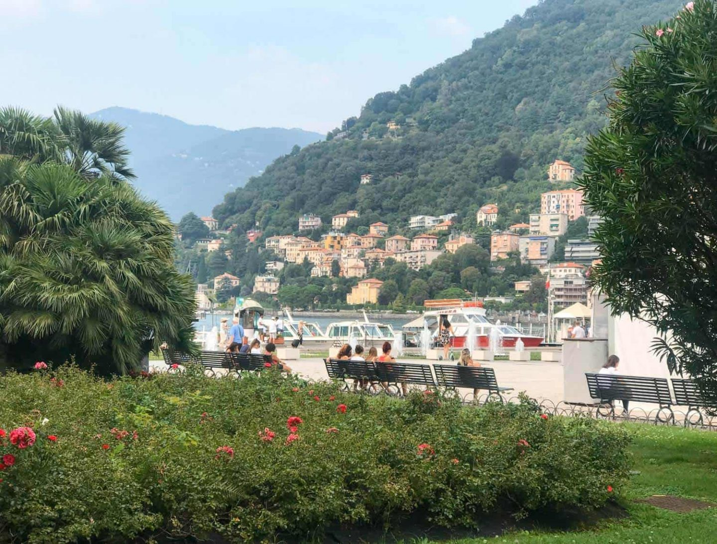 Looking out over Lake Como from Piazza Cavour