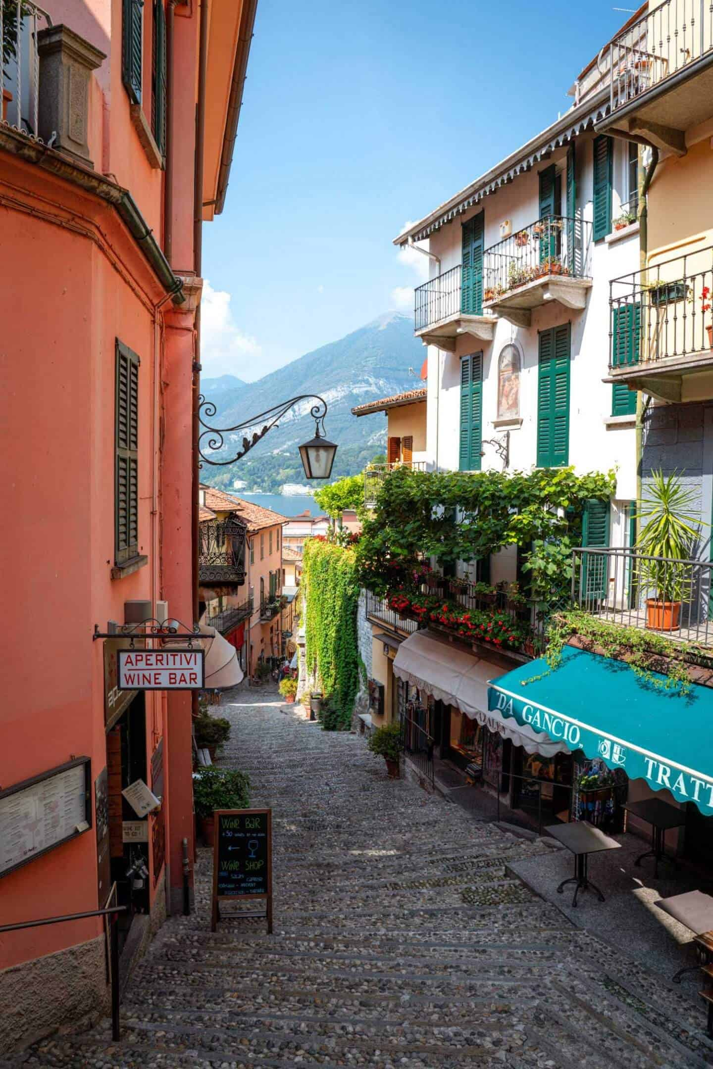 Salita Serbelloni steps are one of the most iconic locations in Bellagio and shouldn't be missed on a day trip Milan to Lake Como