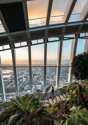 Incredible sunset views from Sky Garden make for an Instagrammable photo in a bucket list London location