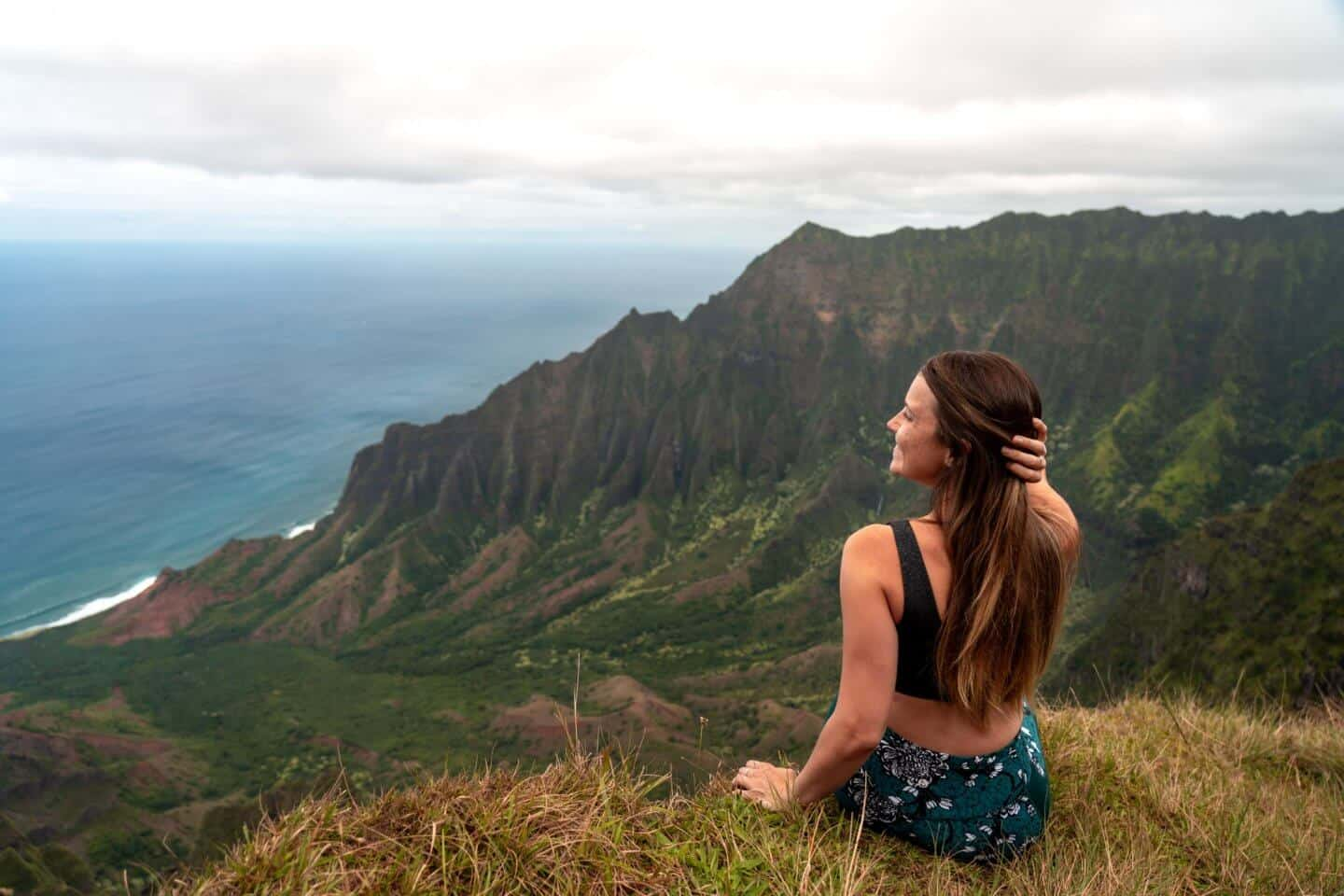 Sophie enjoying views of the Na Pali Coast