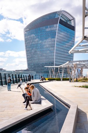 The Garden at 120 London with the Walkie Talkie building in the background