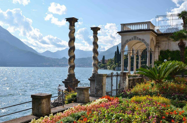 View of Lake Como from the botanical gardens at Villa Monastero.