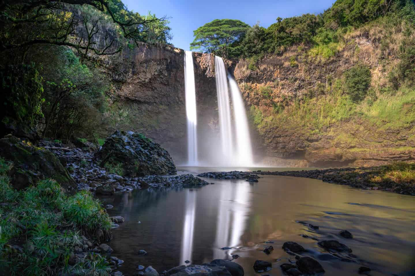 The Wailua region is home to the best waterfalls you'll discover in Kauai, including Wailua Falls.