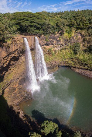 The glorious Wailua Falls as seen from the parking lot.