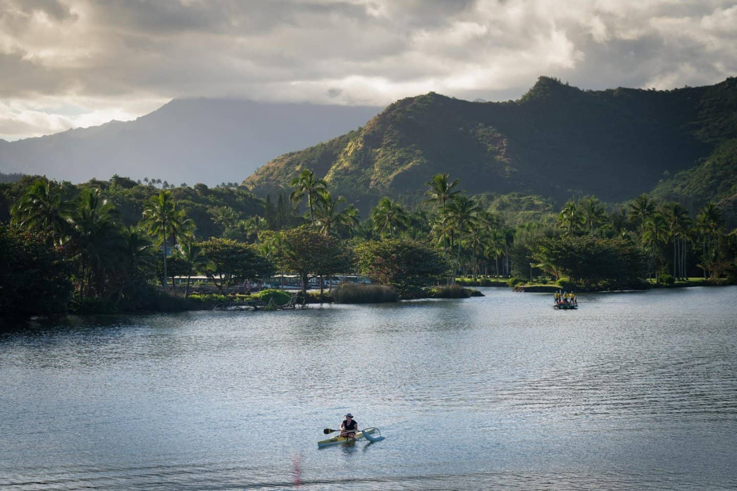 Fading light on the Wailua River, one of the best Kauai photography locations on the Hawaiian island.