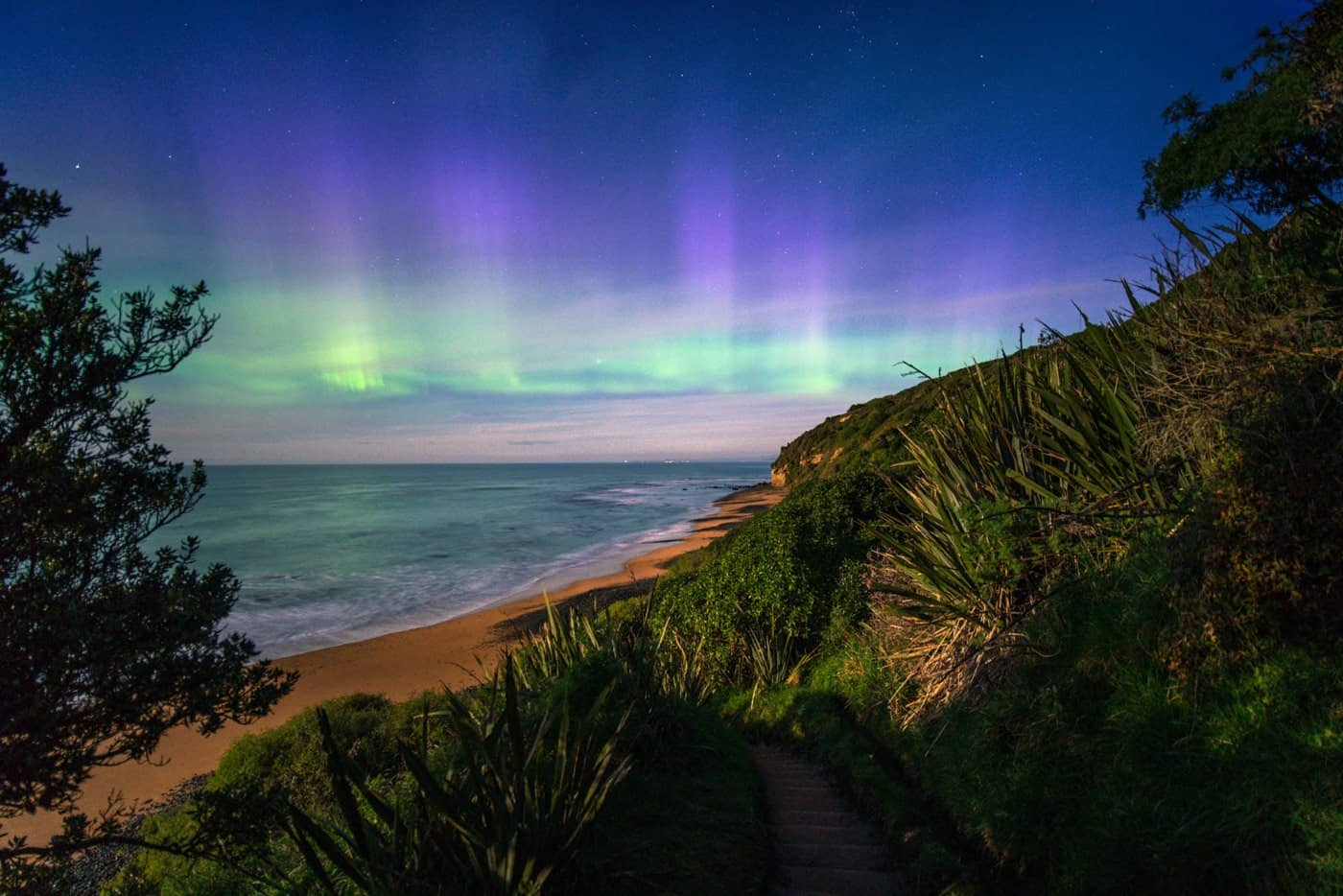 September is the best time to visit New Zealand if you want to photograph Aurora Australis (Southern Lights)