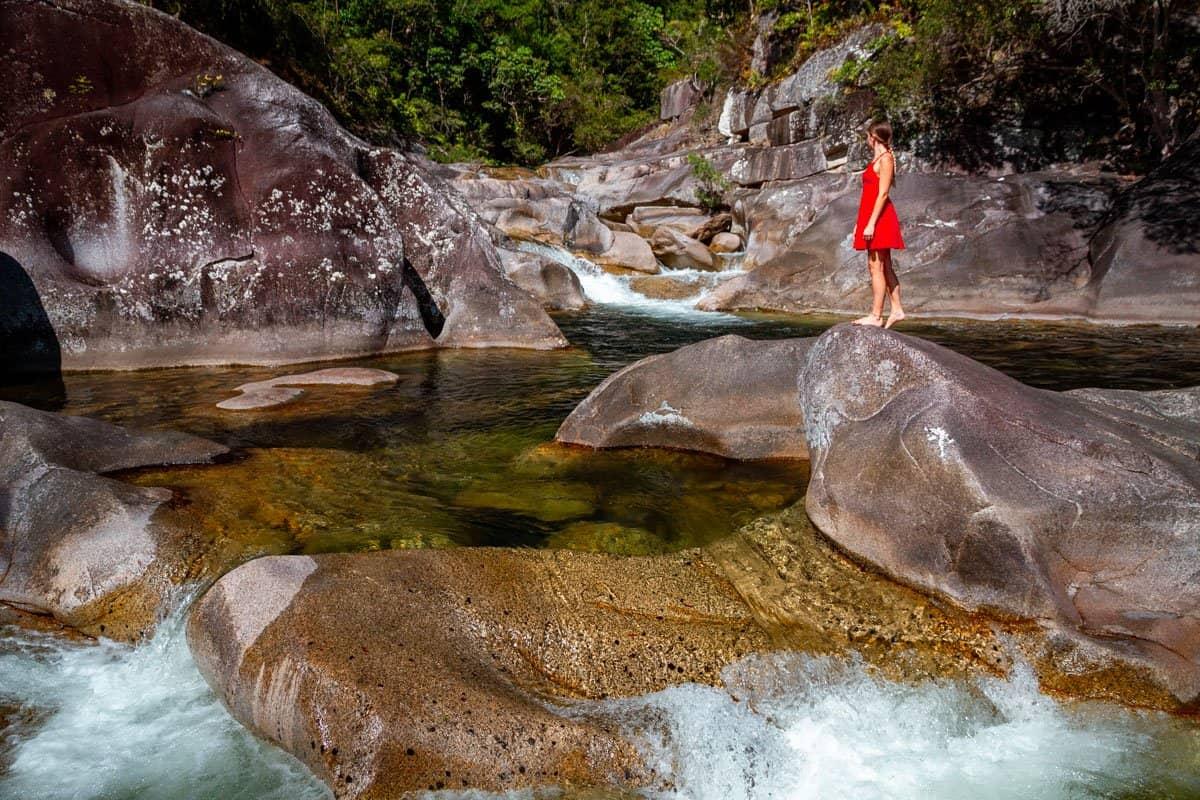 Behana Gorge has many small cascades on the way to Clamshell Falls.