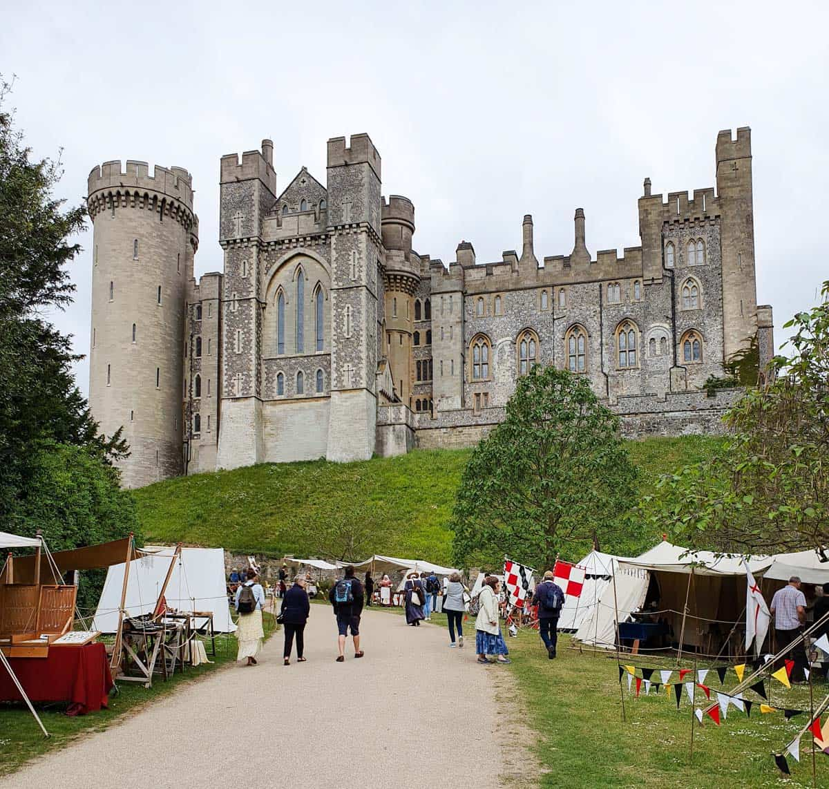 Arundel Castle with a market within its grounds makes for a great day trip from London.