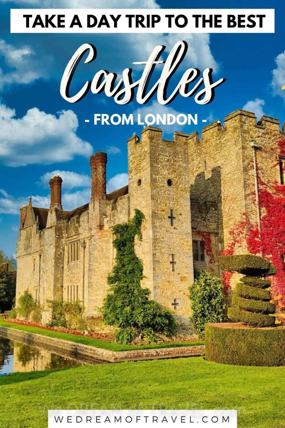 Discover the best castles near London.  14 fairytale English castles you can visit on an easy day trip from London. #england #castles #london