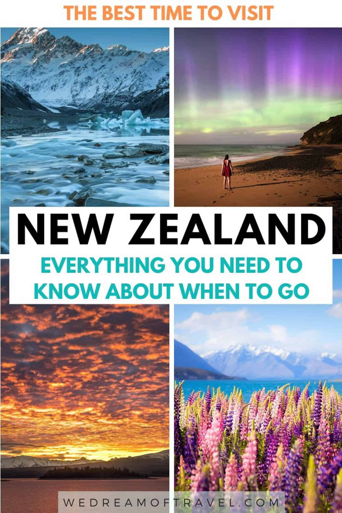 Trying to decide when to travel to New Zealand?  This guide will help you figure out when the best time to visit New Zealand is for you.  Information based on month, seasons and events to help you plan your travels to New Zealand! #newzealand #travel