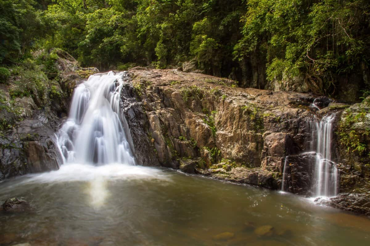 Long exposure of Crystal Cascades. One of the closest waterfalls to Cairns.