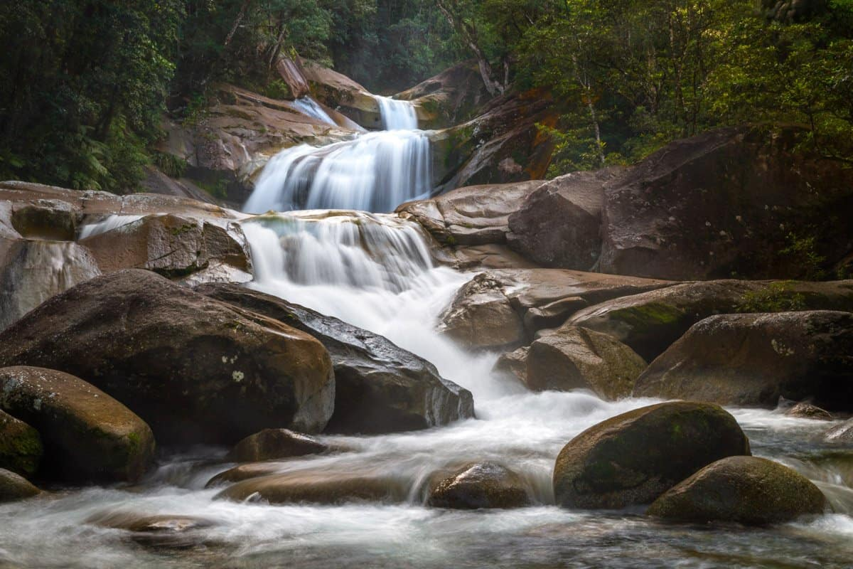 A long exposure of Josephine Falls; one of the best waterfalls near Cairns.