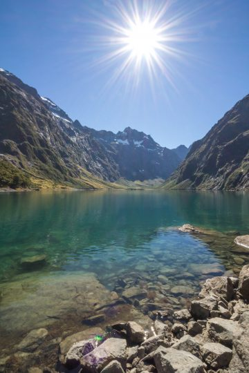 January in New Zealand is one of the busiest months to be there, so finding isolation requires longer hikes!