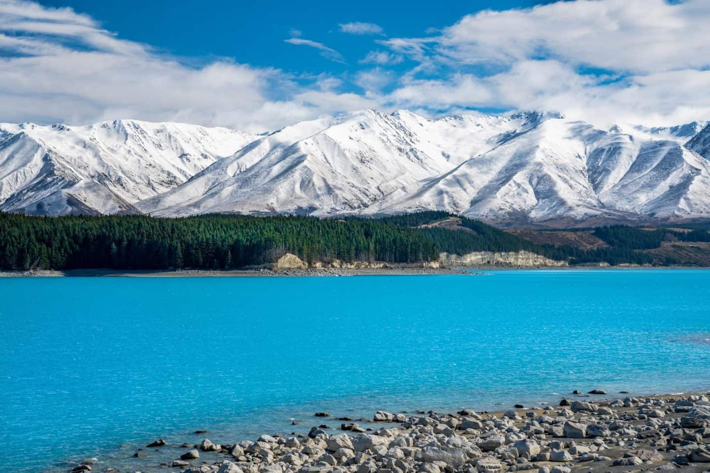 NZ landscape photographers will not be able to put their cameras away when they encounter the impossibly blue waters of Lake Pukaki.