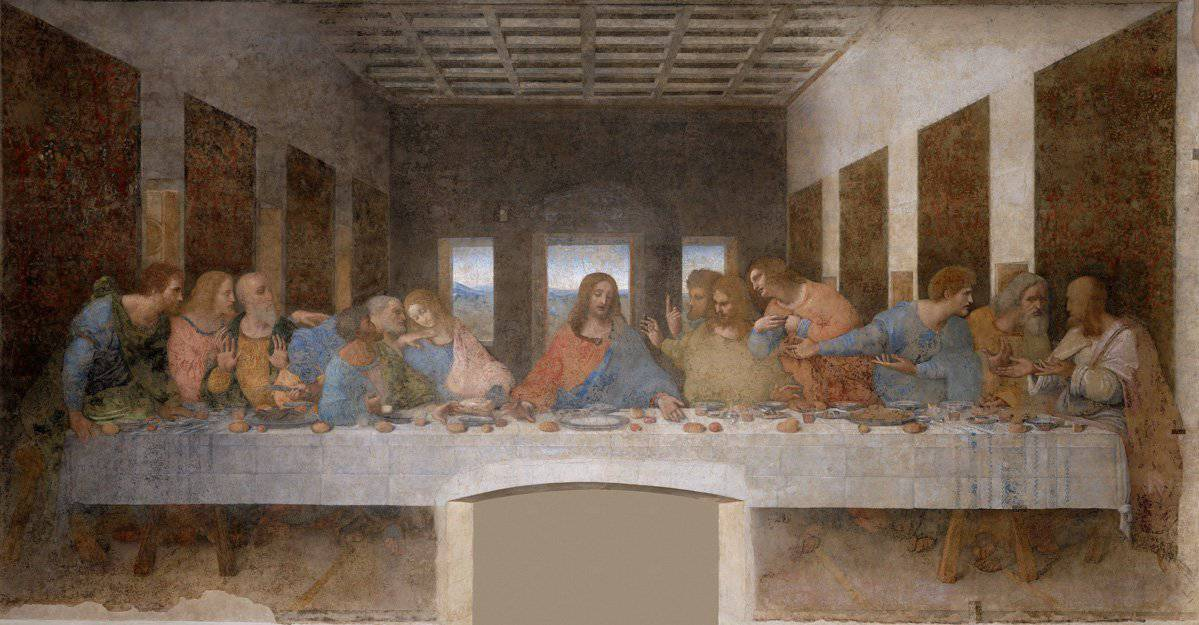 Leonardo Da Vinci's The Last Supper Painting at Santa Maria delle Grazie Church Milan