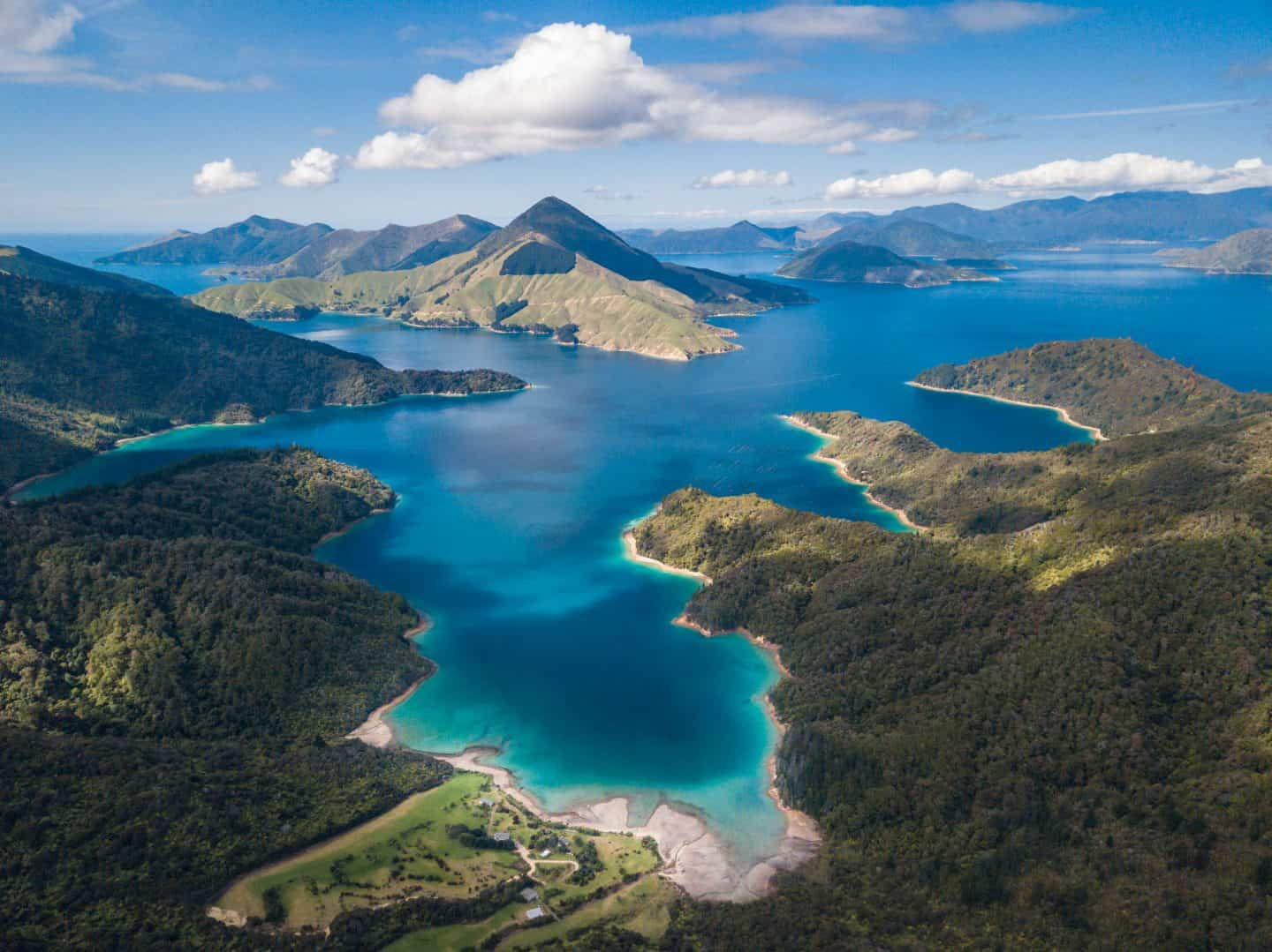 Incredible blue waters and lush greenery make the Pelorus Sound in Marlborough exceptionally photogenic.