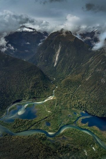 Another incredible vista from high above Milford Sound on our flight from Queenstown.