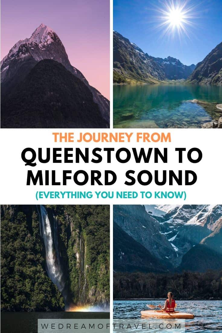 The drive from Queenstown to Milford Sound is one of the most beautiful in New Zealand.  Discover all the best sights along the way and how to make the most of your trip. Whether you're taking a day trip or longer, this guide has everything you need to know before you go.  #newzealand #milfordsound #queenstown
