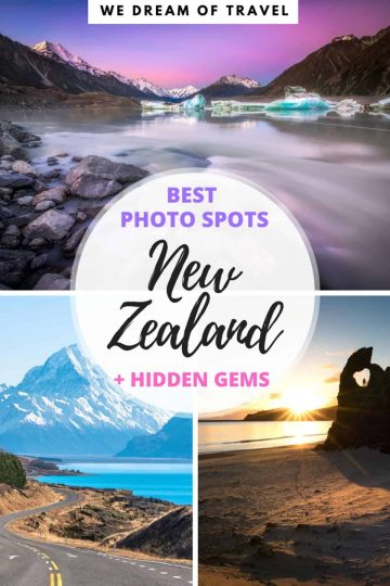 New Zealand is a landscape photographers dream! The South Island of New Zealand is home to many beautiful places and landscapes. This travel guide will help you discover all the best New Zealand photography locations and hidden gems. #newzealand #photography